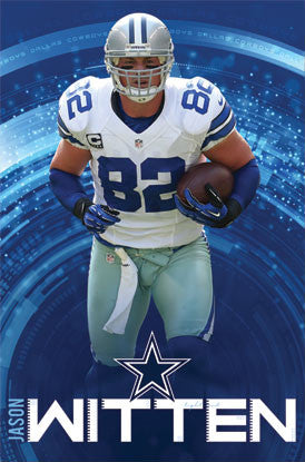 "Jason Witten ""Bulldog"" Dallas Cowboys NFL Action Poster - Costacos 2012"