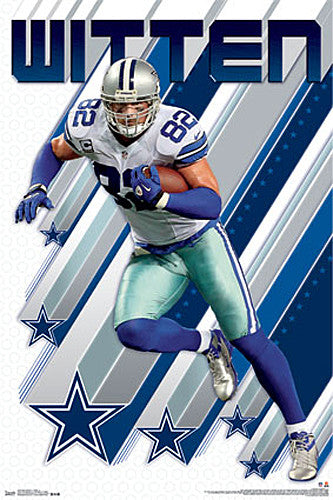 "Jason Witten ""Shooting Star"" Dallas Cowboys Tight End NFL Action POSTER - Trends International"