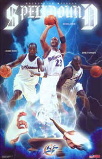 "Washington Wizards ""Spellbound"" Poster (Michael Jordan, Brown, Stackhouse) - Starline 2003"