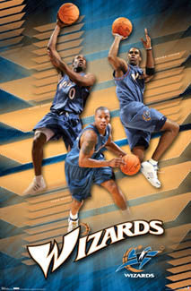 "Washington Wizards ""Shooting Stars"" Poster (Arenas, Butler, Jamison) - Costacos 2006"