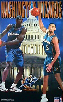 "Chris Webber and Juwan Howard ""Wizards"" Washington Wizards Poster - Starline 1998"