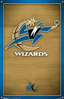 Washington Wizards Official NBA Basketball Logo Poster (2007-11 Style) - Costacos Sports