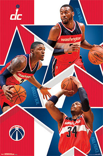 "Washington Wizards ""Big Three"" Poster (John Wall, Bradley Beal, Paul Pierce) - Costacos 2015"