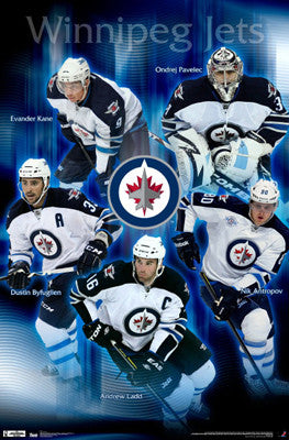 "Winnipeg Jets ""Superstars"" 2011-12 Poster - Costacos Sports"