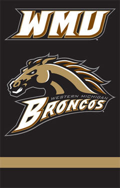 Western Michigan University Broncos Official Team Banner - Party Animal