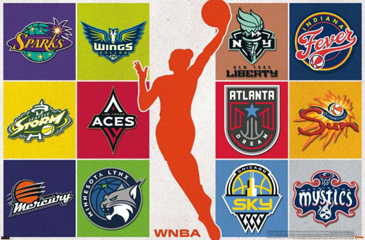 "WNBA Women's Basketball ""The WNBA Universe"" All 12 Team Logos Poster - Trends 2021"