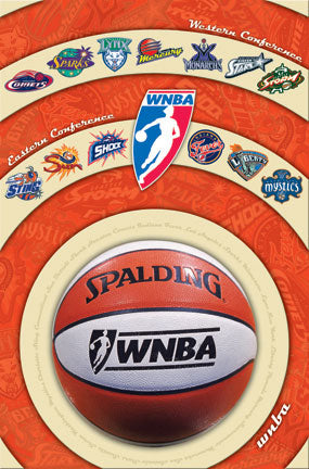"WNBA Basketball ""The WNBA Universe"" (All 13 Teams) Poster - Costacos Sports 2004"