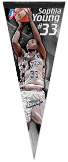 "Sophia Young ""Superstar"" WNBA Premium Collector's Pennant"