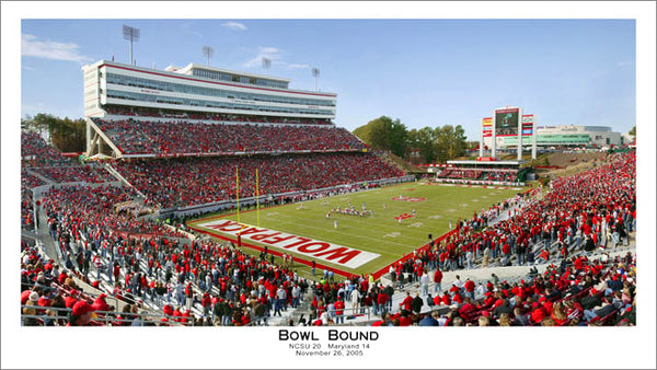 "NC State Wolfpack Football ""Bowl Bound"" (11/16/05) Premium Poster - Sofa Galleria"