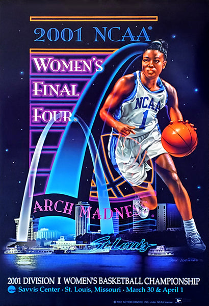 NCAA Women's Basketball 2001 Final Four St. Louis Official Event Poster - Action Images Inc.