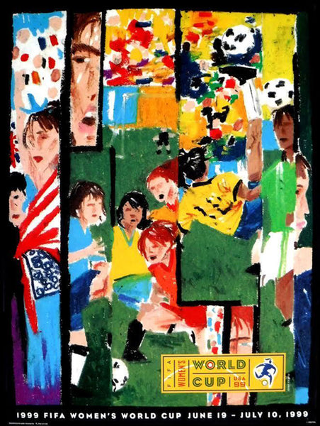 FIFA Women's World Cup 1999 USA Official Poster (Artist D. Yap) - Fine Art Ltd.