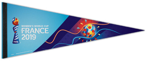 FIFA Women's World Cup Soccer 2019 France Official Premium Felt Event Pennant - Wincraft