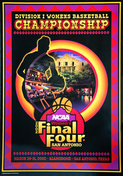NCAA Women's Basketball 2002 Final Four Official Poster (San Antonio)