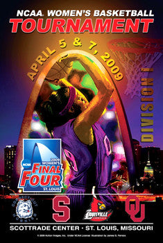 NCAA Women's Final Four 2009 Official Poster - Action Images
