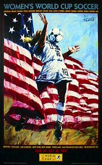 Women's World Cup USA 1999 Official Event Poster (Aldo Luongo) - Fine Art Ltd.