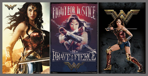 Wonder Woman (Gal Gadot) 3-Poster Combo Set - Trends International