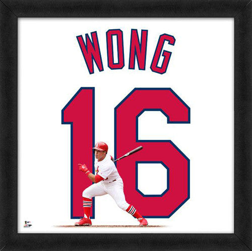 "Kolten Wong ""Number 16"" St. Louis Cardinals FRAMED 20x20 UNIFRAME PRINT - Photofile"