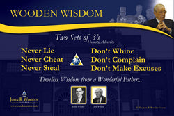"Coach John Wooden's ""Two Sets of Threes"" Motivational Inspirational Wall Poster"