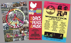COMBO: Woodstock 1969 Commemorative 3-Poster Set