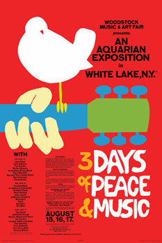 Woodstock 1969 Original Advertising Poster Reprint - Aquarius 2009