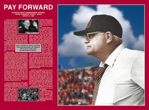 "Woody Hayes ""Pay Forward"" Legendary Ohio State Commencement Address Poster - MTP"