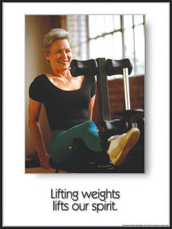 "Seniors Fitness ""Lifts Our Spirit"" Inspirational Poster - Fitnus Corp."