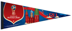 FIFA World Cup Russia 2018 Official Premium Felt Commemorative Event PENNANT - Wincraft Inc.