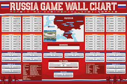 FIFA World Cup 2018 Russia Tournament Wall Chart Fill-In Scores POSTER - GB Eye (UK)