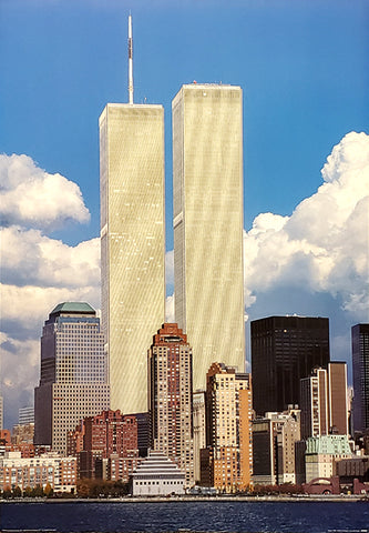 "New York City World Trade Center ""Twin Towers Majesty"" Poster - Pyramid Posters 2001"