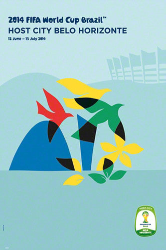 FIFA World Cup 2014 Official Venue Poster - Belo Horizonte (#0945)