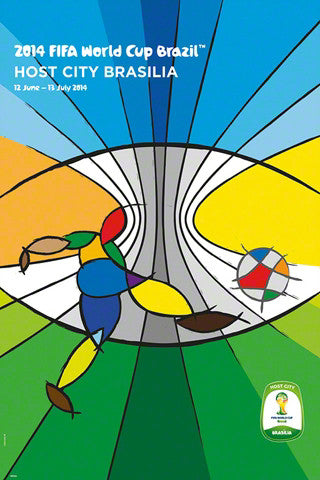FIFA World Cup 2014 Official Venue Poster - Brasilia (#0946)