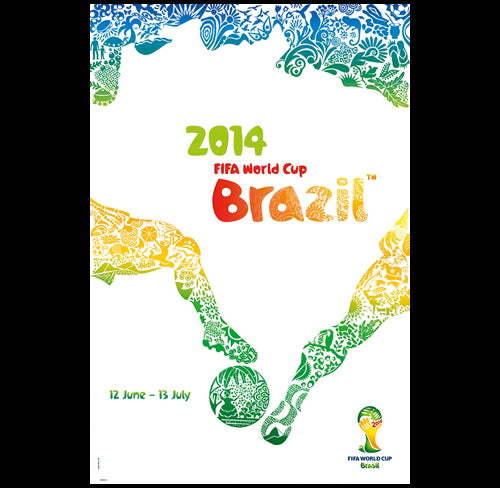 FIFA World Cup 2014 Brazil Official Poster (Worldwide English Edition #0973)