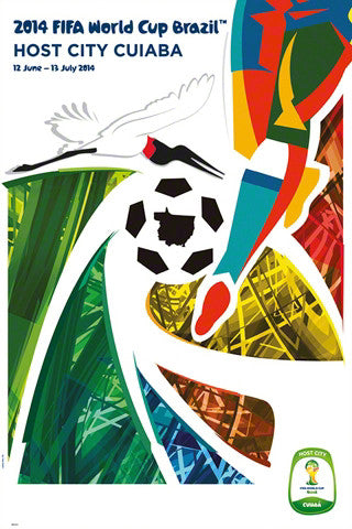 FIFA World Cup 2014 Official Venue Poster - Cuiaba (#0947)
