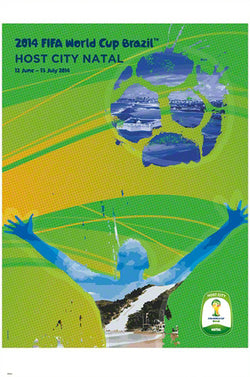 FIFA World Cup 2014 Official Venue Poster - Natal (#0951)