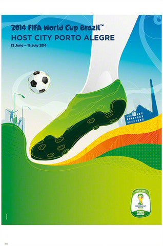 FIFA World Cup 2014 Official Venue Poster - Porto Alegre (#0952)