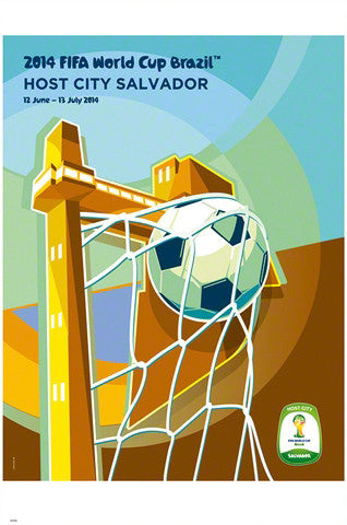 FIFA World Cup 2014 Official Venue Poster - Salvador (#0955)