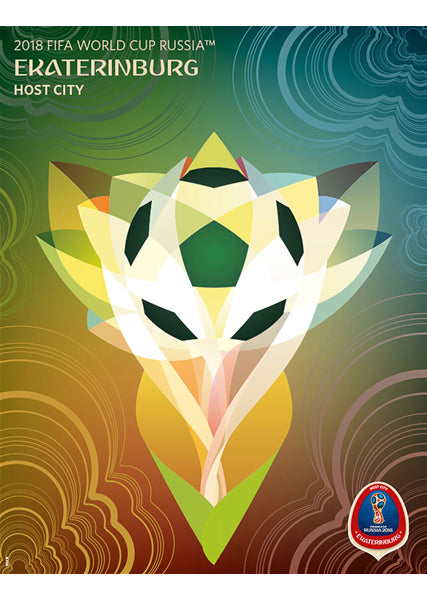FIFA World Cup 2018 Russia Official Host City Poster (Ekaterinburg) - Sports Endeavors