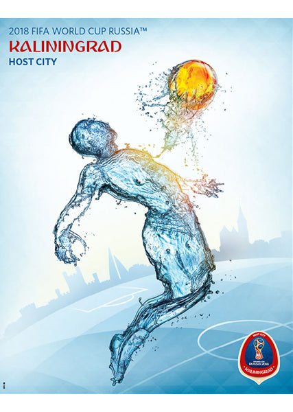 FIFA World Cup 2018 Russia Official Host City Poster (Kaliningrad) - Sports Endeavors