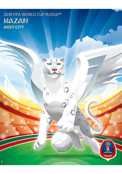 FIFA World Cup 2018 Russia Official Host City Poster (Kazan) - Sports Endeavors