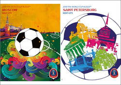 FIFA World Cup 2018 Russia Official Host City 2-Poster Set (Moscow and St. Petersburg) - Sports Endeavors