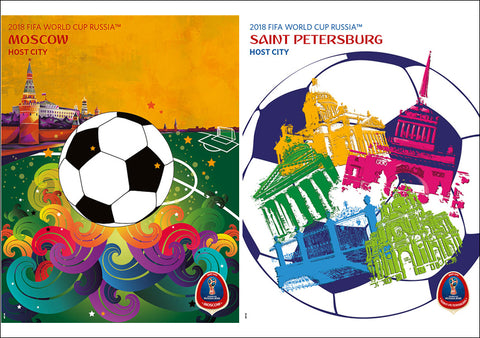 c8c30c964 FIFA World Cup 2018 Russia Official Host City 2-Poster Set (Moscow and St