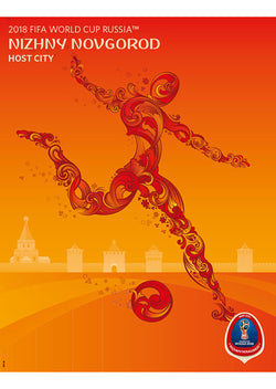 FIFA World Cup 2018 Russia Official Host City Poster (Nizhny Novgorod) - Sports Endeavors