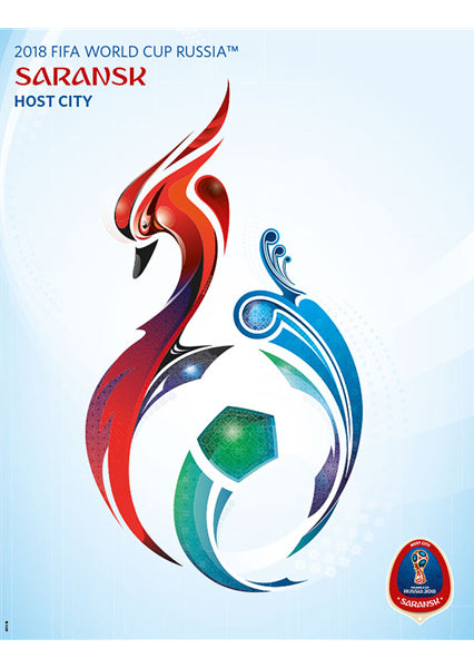 FIFA World Cup 2018 Russia Official Host City Poster (Saransk) - Sports Endeavors
