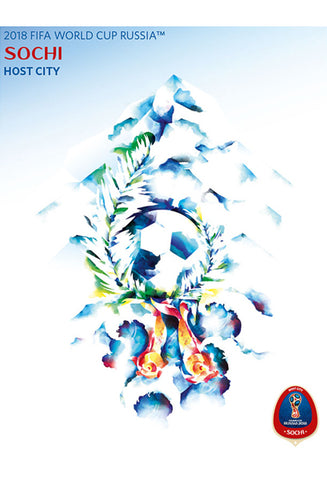 FIFA World Cup 2018 Russia Official Host City Poster (Sochi) - Sports Endeavors