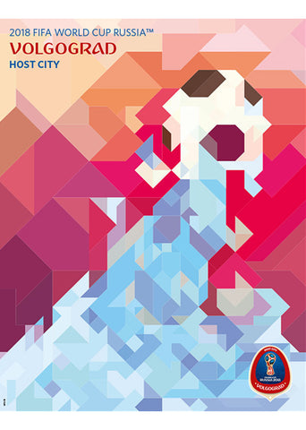 FIFA World Cup 2018 Russia Official Host City Poster (Volgograd) - Sports Endeavors