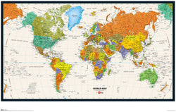 Map of the World Wall Poster - Trends International Inc.