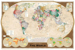 Wall Map of The World Poster (Winkel Tripel Projection) - GB Eye Ltd.
