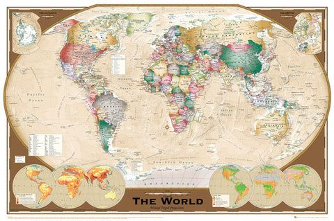 Wall map of the world poster winkel tripel projection gb eye ltd wall map of the world poster winkel tripel projection gb eye ltd gumiabroncs Gallery