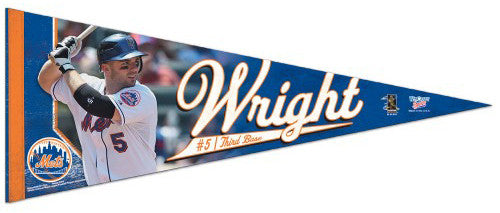 David Wright Premium Felt Collector's Pennant (LE /2010) - Wincraft