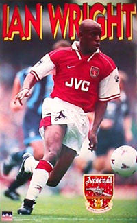 "Ian Wright ""Action"" Arsenal FC Poster - Starline 1997"